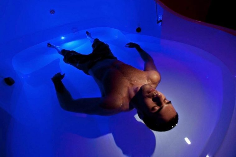 My first treatment in the Floatation Tank…